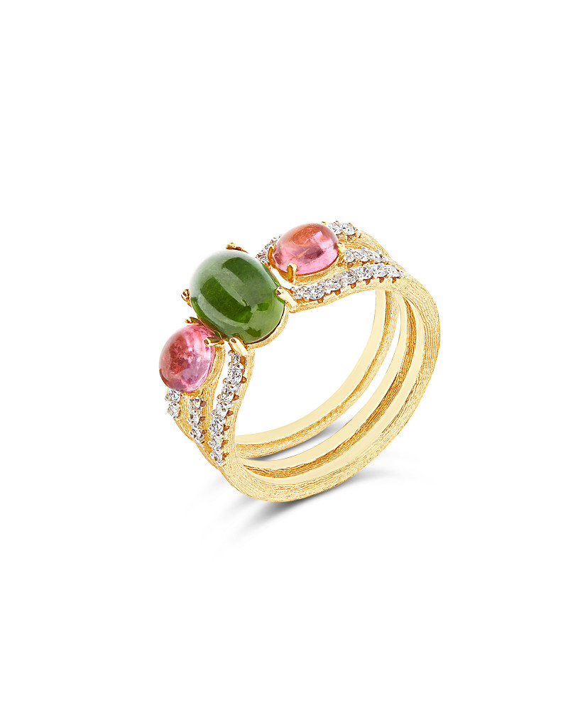 DANCING TOURMALINES Ring